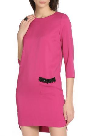 Платье свободного силуэта с одним карманом Whos Who Who's. Цвет: фуксия