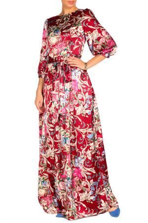Платье с поясом MARINO MILANO. Цвет: красный