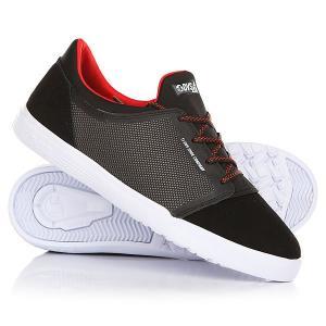Кеды кроссовки низкие детские  Stratos Lt+kids Black/Red/Suede DVS. Цвет: черный,серый