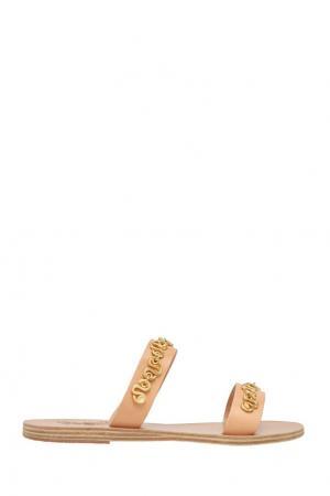 Сандалии с металлической отделкой Ancient Greek Sandals. Цвет: пудровый, золотой