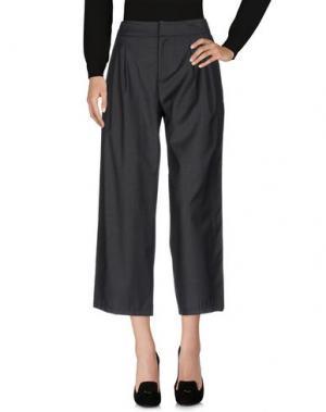 Повседневные брюки COMEFORBREAKFAST. Цвет: свинцово-серый