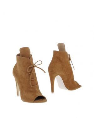 Полусапоги и высокие ботинки OFF WHITE c/o VIRGIL ABLOH. Цвет: верблюжий