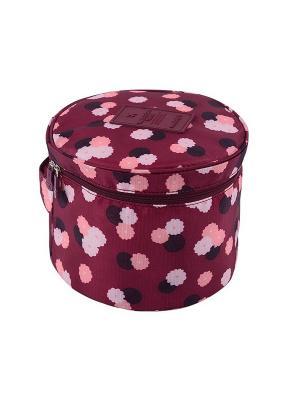Органайзер круглый Бордовый цветок Homsu. Цвет: бордовый