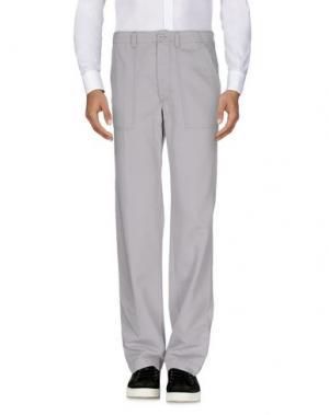 Повседневные брюки COTTON BELT. Цвет: светло-серый