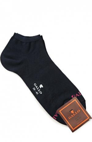 Укороченные хлопковые носки Gallo. Цвет: синий