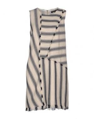 Короткое платье TESS GIBERSON. Цвет: бежевый