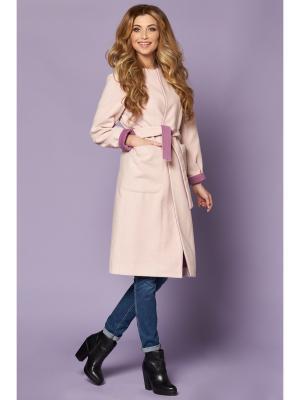 Пальто VERNA SEBE. Цвет: персиковый, кремовый