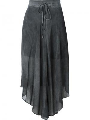Асимметричная прозрачная юбка Lost & Found Ria Dunn. Цвет: серый