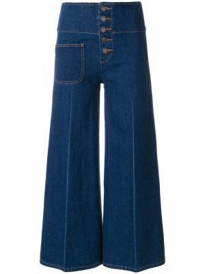Укороченные брюки  с завышенной талией Marc Jacobs. Цвет: синий