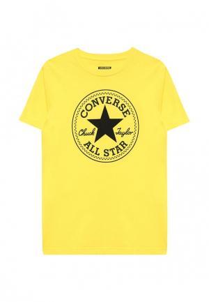 Футболка Converse. Цвет: желтый
