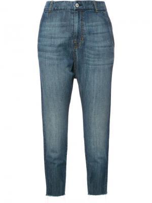 Укороченные джинсы с заниженной проймой Nili Lotan. Цвет: синий