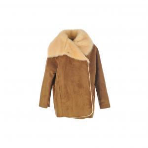 Пальто короткое Carat, искусственная кожа RENE DERHY. Цвет: темно-бежевый