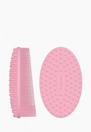 Рукавичка для пилинга Double Dare. Цвет: розовый
