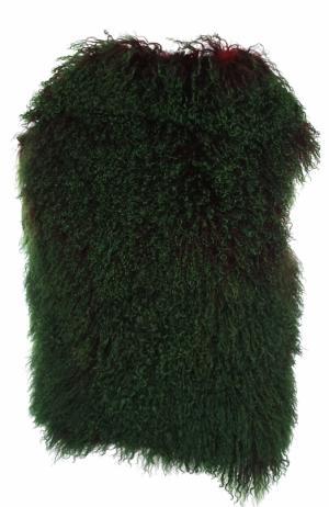 Однотонная накидка из овчины Ann Demeulemeester. Цвет: зеленый