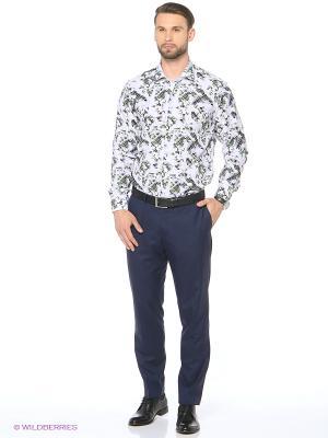 Рубашка KARFLORENS. Цвет: белый, зеленый