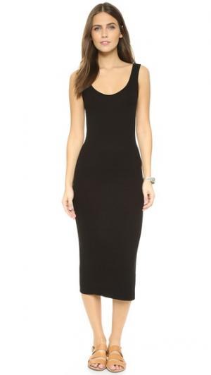 Платье в рубчик без рукавов Enza Costa. Цвет: голубой