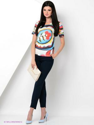 Футболка Taya jeans. Цвет: белый, голубой, красный, черный