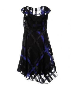 Платье до колена LELA ROSE. Цвет: фиолетовый