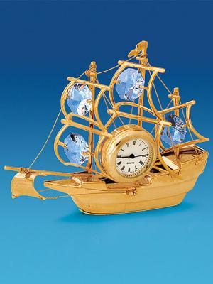 Фигурка с часами Корабль Юнион. Цвет: золотистый (осн.)