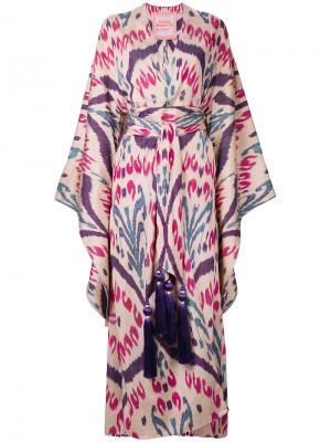Платье с принтом Harem Yuliya Magdych. Цвет: розовый и фиолетовый