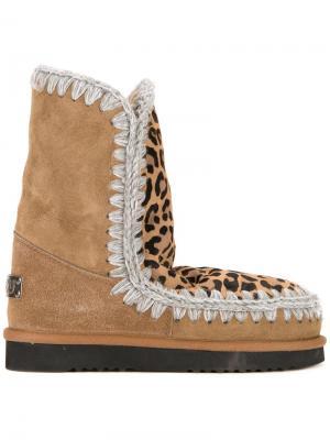 Зимние ботинки Eskimo Mou. Цвет: коричневый