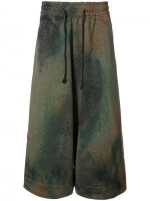 Камуфляжные брюки  Boxer Toogood. Цвет: зелёный