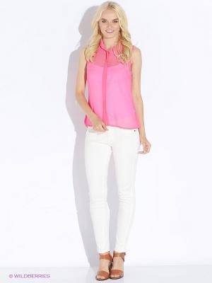 Блузка Up Girl. Цвет: розовый