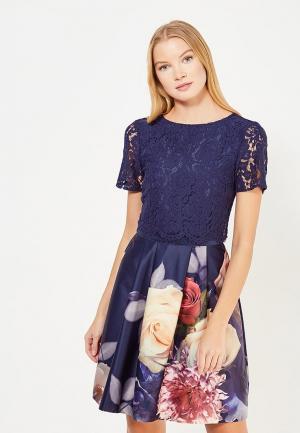 Платье Oasis. Цвет: синий