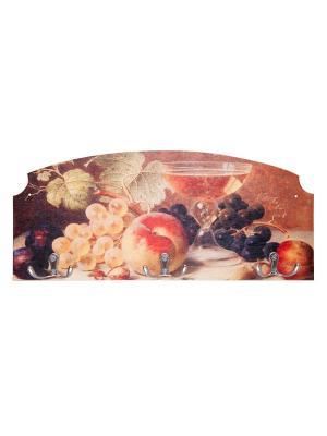 Вешалка-ключница фруктовыйсад Miolla. Цвет: оранжевый, темно-фиолетовый