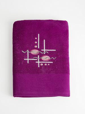 Полотенце A and C Collection. Цвет: фиолетовый