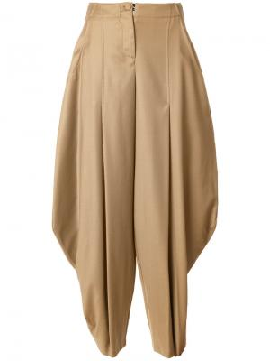 Широкие брюки Ultràchic. Цвет: коричневый