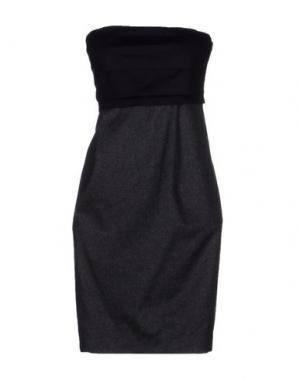 Короткое платье SUOLI. Цвет: серый