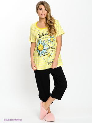 Пижама PELICAN. Цвет: желтый, белый, черный