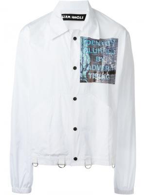 Куртка с принтом Liam Hodges. Цвет: белый