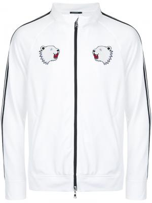Спортивная куртка с полосками на рукавах Guild Prime. Цвет: белый