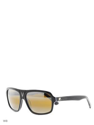 Солнцезащитные очки VL 1208 P017 SKILYNX Vuarnet. Цвет: черный