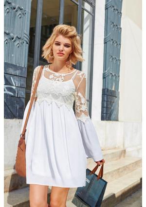 Платье 2 в 1 Aniston. Цвет: белый/кремовый