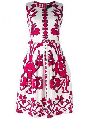 Платье с принтом без рукавов Samantha Sung. Цвет: белый
