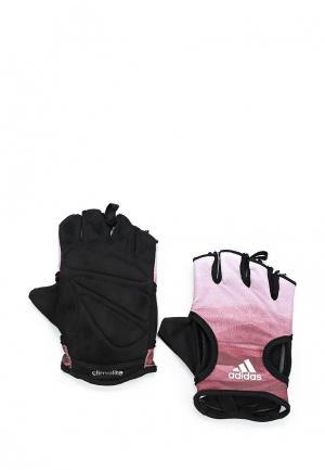 Перчатки для фитнеса adidas Performance. Цвет: розовый