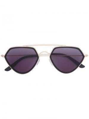 Солнцезащитные очки Geo 2 Smoke X Mirrors. Цвет: чёрный