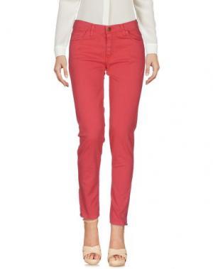 Повседневные брюки LA PETITE FRANCAISE. Цвет: коралловый