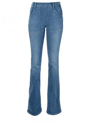 Расклешенные джинсы с завышенной талией Frame Denim. Цвет: синий