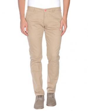 Повседневные брюки ROBERTO PEPE. Цвет: песочный