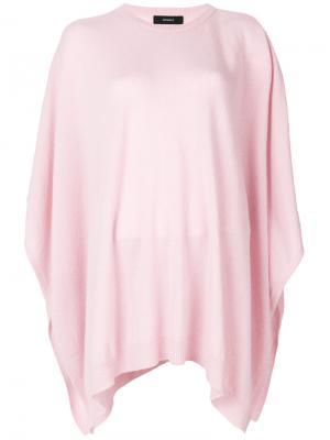 Пончо с круглым вырезом Pringle Of Scotland. Цвет: розовый и фиолетовый