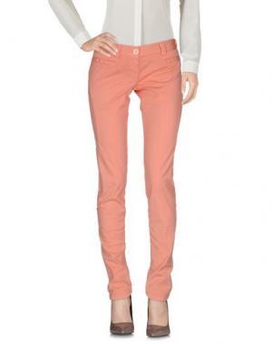 Повседневные брюки PF PAOLA FRANI. Цвет: лососево-розовый