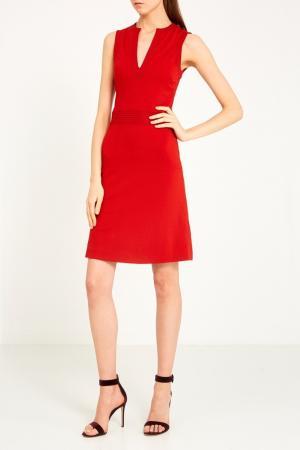 Красное платье с V-вырезом Gucci. Цвет: none