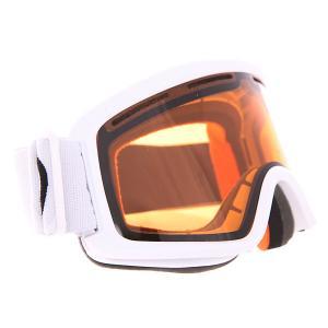 Маска для сноуборда  Beefy Persimmon Von Zipper. Цвет: белый,коричневый
