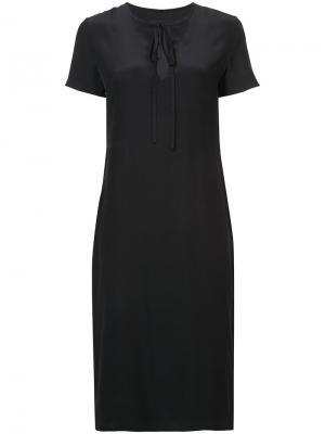 Платье на завязках с короткими рукавами Jenni Kayne. Цвет: чёрный