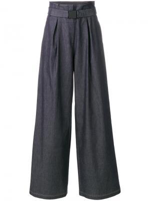 Джинсовые брюки клеш Nº21. Цвет: синий