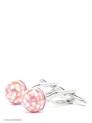 Запонки Розовые шарики Mitya Veselkov. Цвет: серебристый